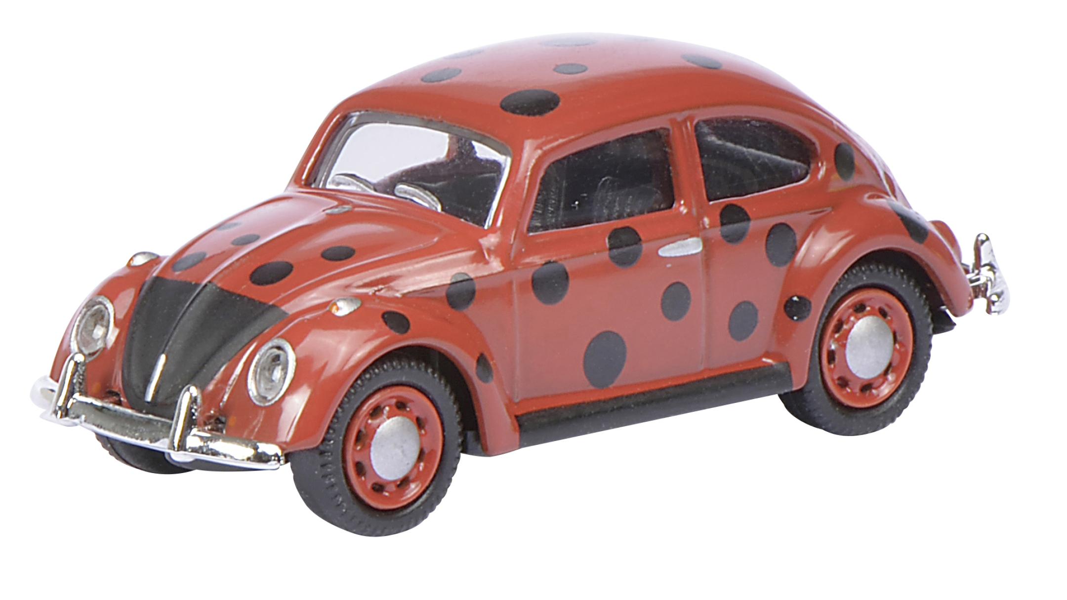 ce3d17a04a686c VW Käfer rot mit schwarzen Punkten 1 87
